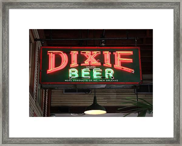 Antique Dixie Beer Neon Sign Framed Print