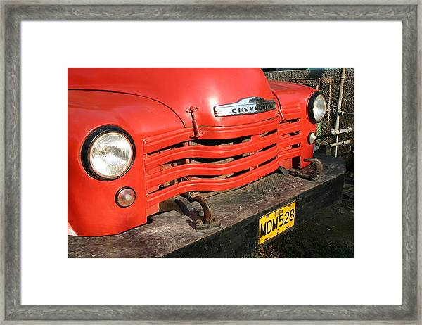 Antique Truck Red Cuba 11300502 Framed Print