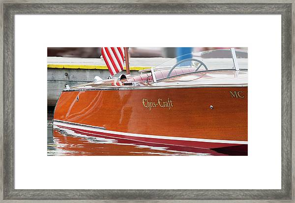 Antique Wooden Boat 1305 Framed Print