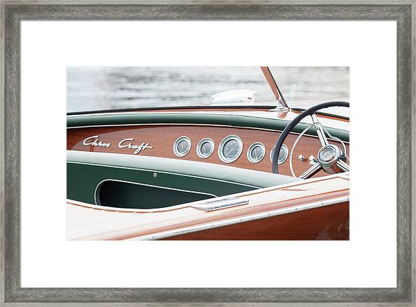 Antique Wooden Boat Dashboard 1306 Framed Print