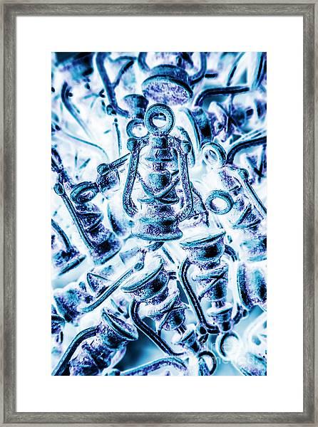 Antiquity Blue Framed Print