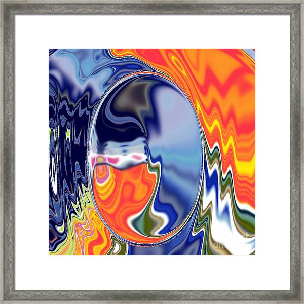 Framed Print featuring the digital art  Ooo by A z akaria Mami