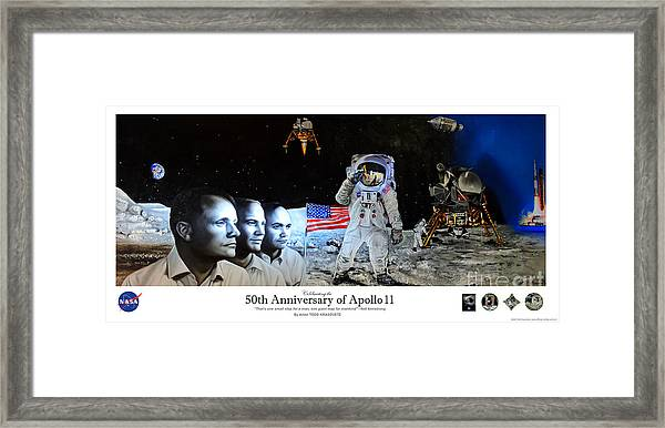Apollo 11 Collectable - Nasa 50th Anniversary Of The Lunar Landing Framed Print