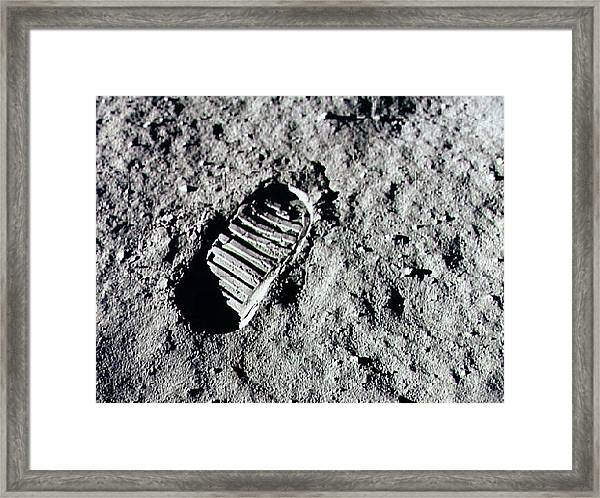 Apollo 11 Mission Leaves First Framed Print