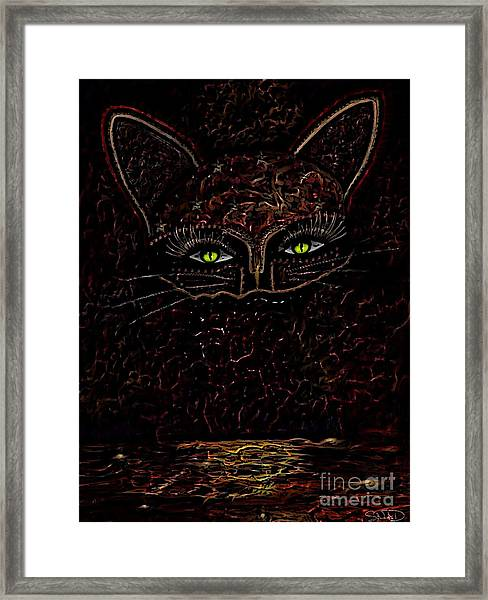 Appearance Of The Mystic Cat Framed Print