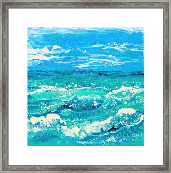 Aqua Seafoam Framed Print