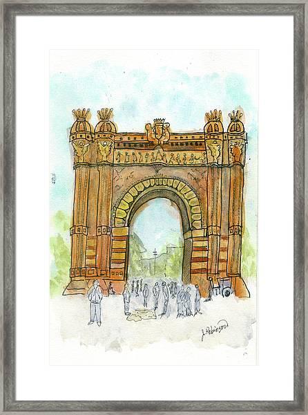 Arc De Triompf, Barcelona Framed Print