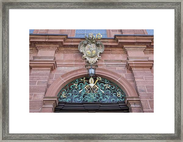 Arched Doorway Decoration Framed Print