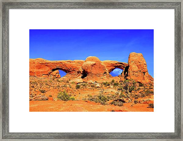 Arches Moon Eye Framed Print