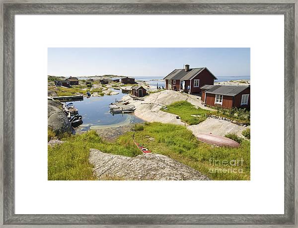 Archipelago Of Stockholm Framed Print