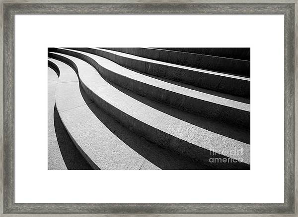 Architectural Design Of Stairs Framed Print