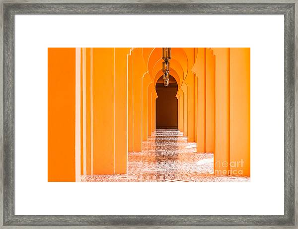 Architecture Morocco Style - Vintage Framed Print