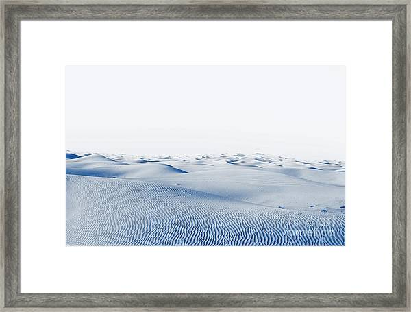 Arctic Desert. Winter Landscape With Framed Print