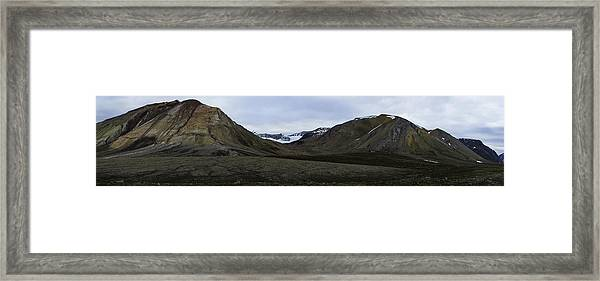 Arctic Mountain Landscape Framed Print