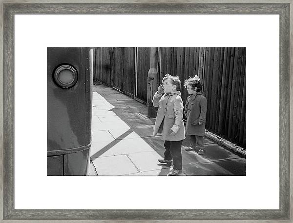 Are You Going To My House? Framed Print