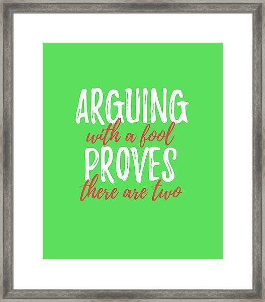 Arguing Framed Print