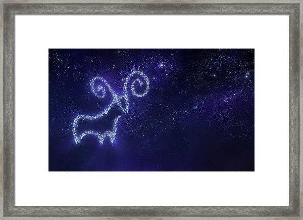 Aries Zodiac Sign Framed Print by Da-kuk