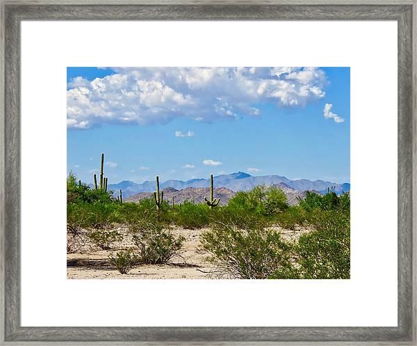Arizona Desert Hidden Valley Framed Print