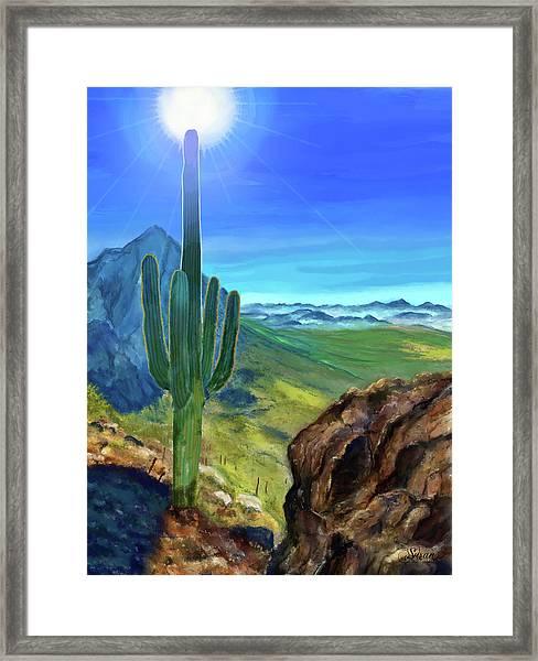 Arizona Heat Framed Print