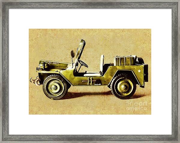 Army Jeep Framed Print