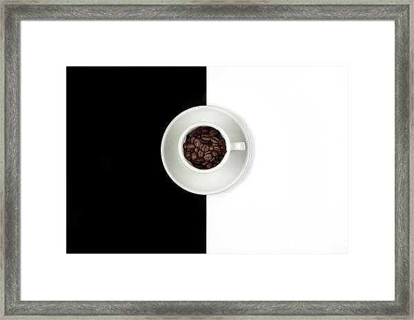 Aromatic Coffee Beans On The Pot Framed Print