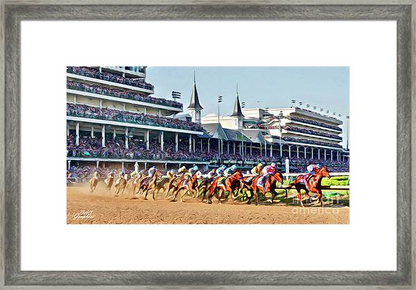 Around The First Turn Framed Print