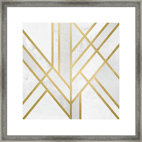 Art Deco Gold Framed Print