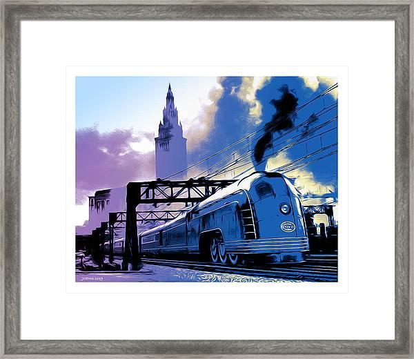 Art Deco Train Framed Print