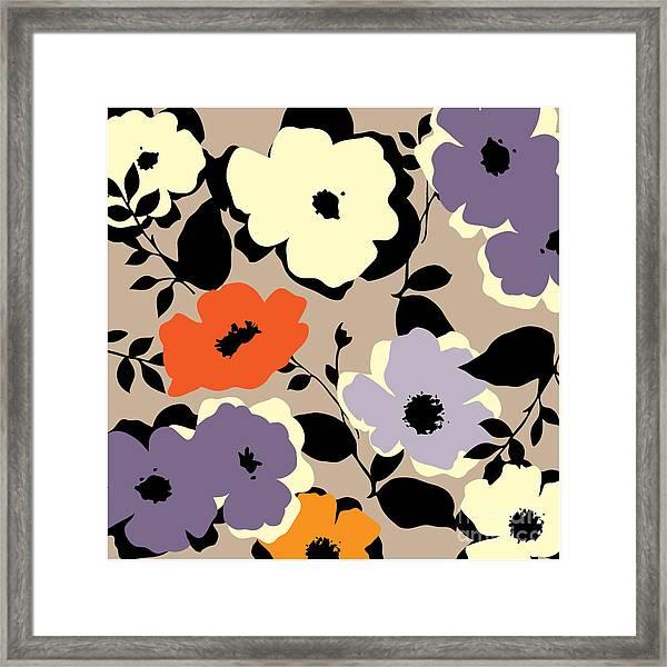 Art Vintage Floral Background Framed Print