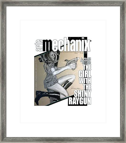 arteMECHANIX 1906 The GIRL WITH The SHINY RAYGUN GRUNGE Framed Print