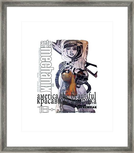 arteMECHANIX 1913 AMERICA THE BEAUTIFUL GRUNGE Framed Print