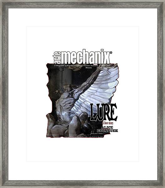 arteMECHANIX 1915 LURE GRUNGE Framed Print