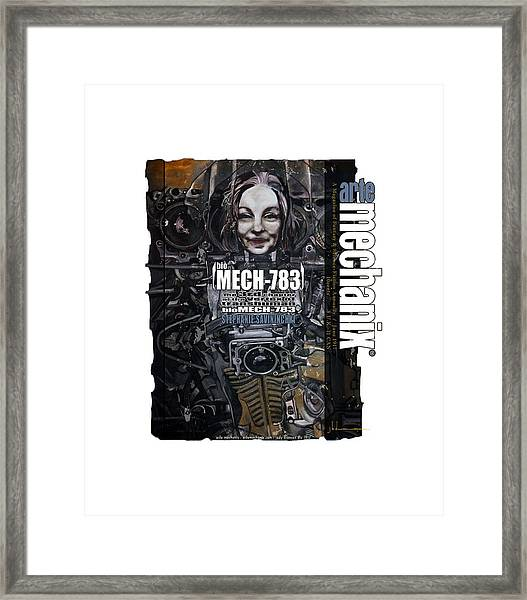arteMECHANIX 1917 BioMECH-783 GRUNGE Framed Print