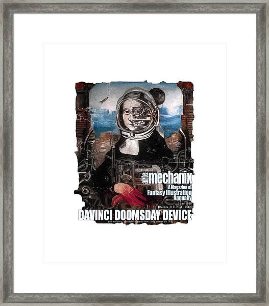 arteMECHANIX 1918 DAVINCI DOOMSDAY DEVICE  GRUNGE Framed Print