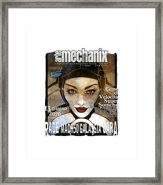 arteMECHANIX 1924 RACE MACH50  GRUNGE Framed Print