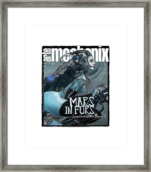 arteMECHANIX 1926 MARS IN FURS GRUNGE Framed Print