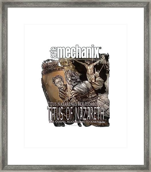 arteMECHANIX 1928 TITUS OF NAZARETH GRUNGE Framed Print