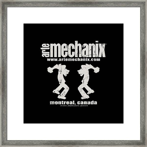 arteMECHANIX OFFICIAL LOGO  GRUNGE Framed Print