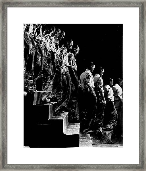 Artist Marcel Duchamp Walking Down A Framed Print