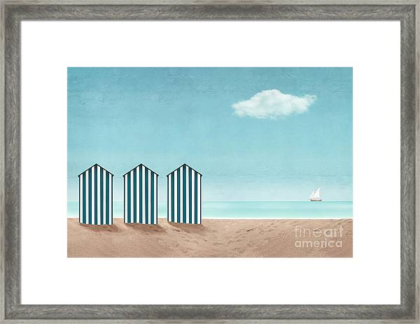 Artistic Seascape With Three Dressing Framed Print