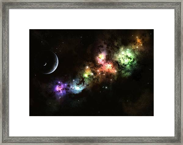 Artists Concept Of Planet Carenteen, A Framed Print