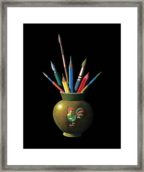 Artists Tools Framed Print by Graphicaartis