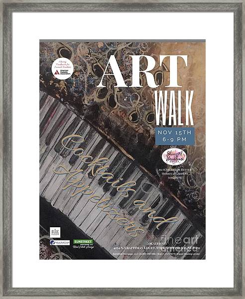 Artwalk Art Show Scottsdale  Framed Print