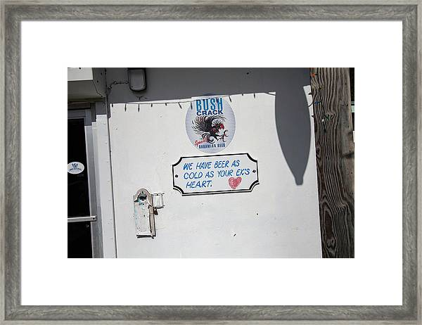 As Cold As Your Ex's Heart Framed Print