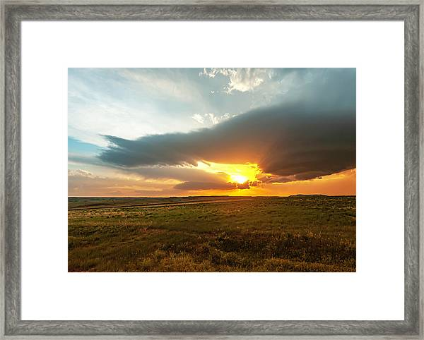 As The Sun Is Setting Framed Print