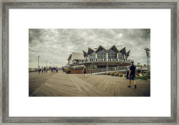 Asbury Park Boardwalk Looking South Framed Print