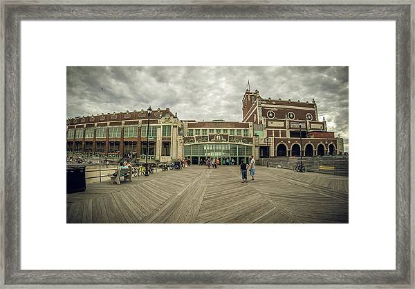 Framed Print featuring the photograph Asbury Park Convention Hall by Steve Stanger