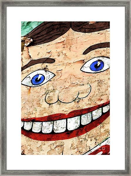 Asbury Park Tillie Smile Mural Framed Print