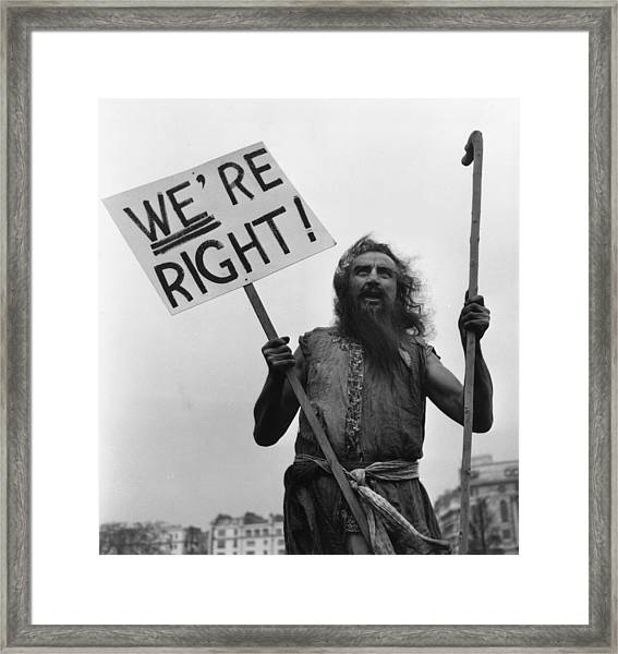 Ascetic Preaching Framed Print
