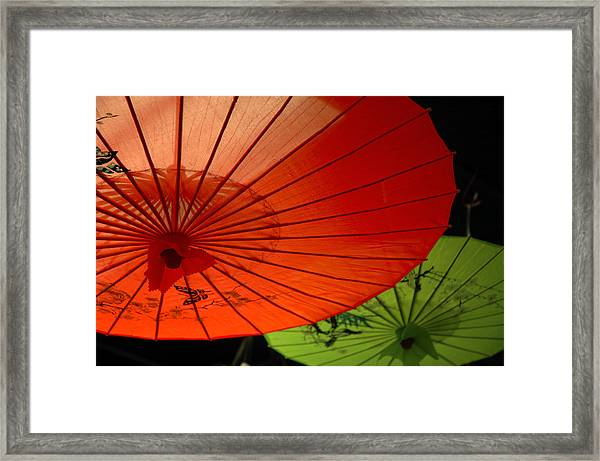 Asian Parasols Framed Print